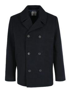 Tmavomodrý vlnený krátky kabát Original Penguin