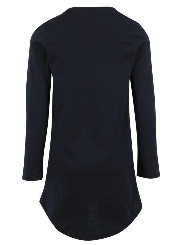 e55110f700b3 Tmavomodré dievčenské dlhé tričko s potlačou name it Jiss