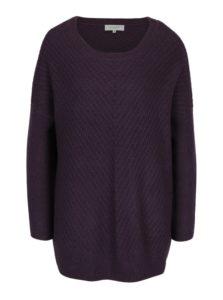 Fialový dlhý vlnený sveter Selected Femme Rille
