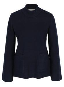 Tmavomodrý sveter s vreckami Selected Femme Inneta