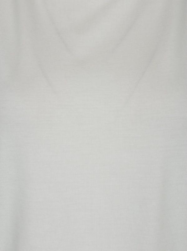 Krémové dámske basic tričko s krátkym rukávom VERO MODA AWARE Ava