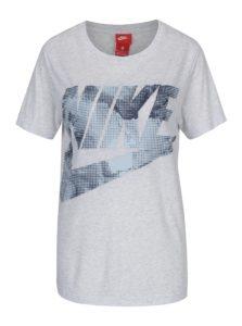 Sivé dámske tričko s potlačou Nike Sportswear Glacier