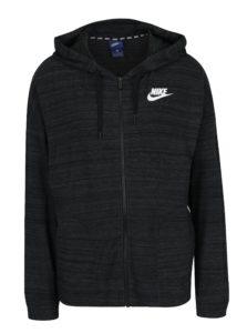 Čierna dámska melírovaná mikina s kapucňou Nike Sportswear Advance 15
