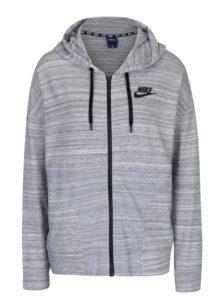 Svetlosivá dámska melírovaná mikina s kapucňou Nike Sportswear Advance 15