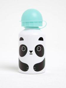 Zeleno–biela fľaša s pandou Sass & Belle Aiko Panda Kawaii