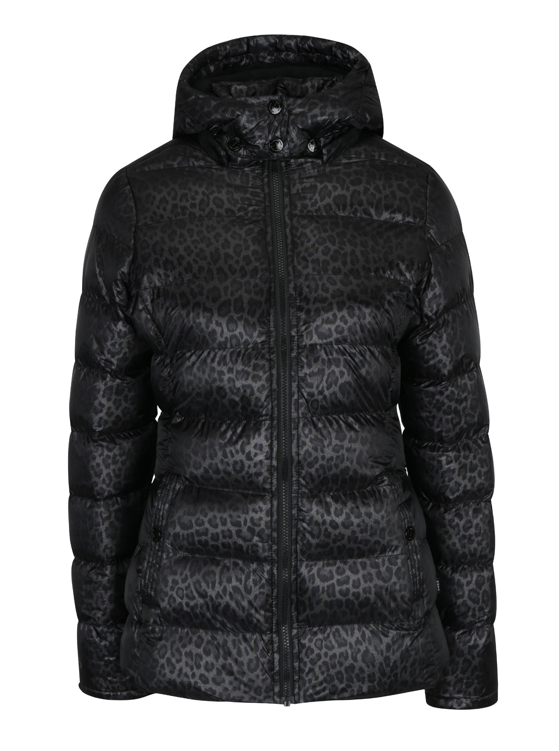 b95edc3b9d Čierna dámska prešívaná vzorovaná bunda s kapucňou Cars Metti