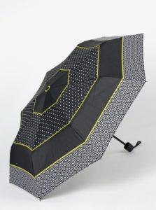 Čierny vzorovaný dáždnik Derby