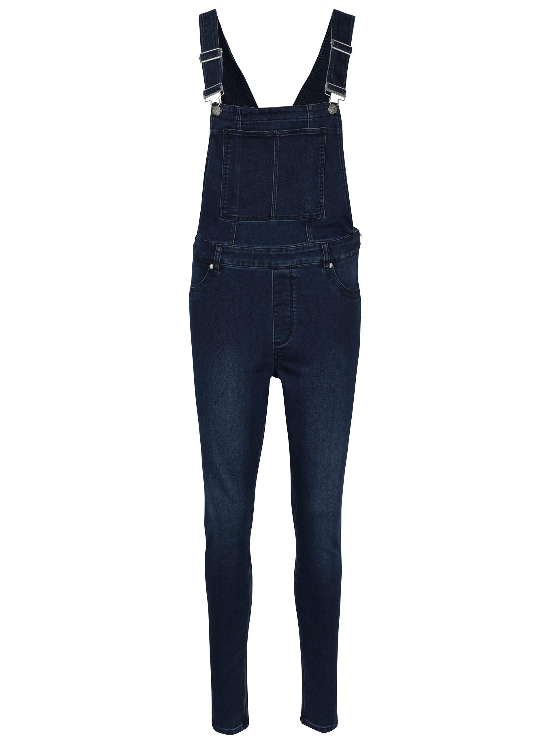 Tmavomodré dámske rifľové trakové nohavice s vysokým pásom Cheap Monday 8b8283a3134