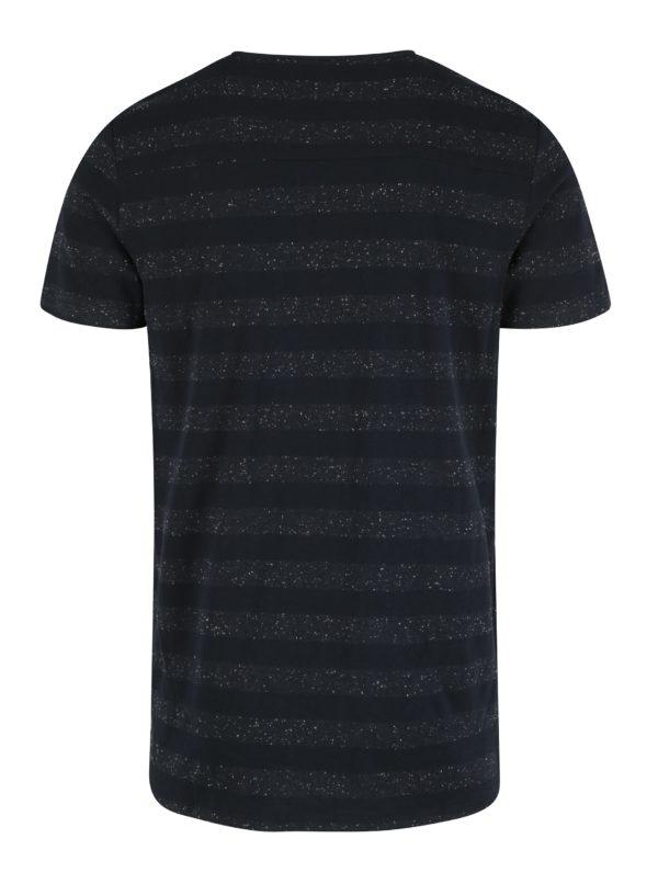 Tmavomodré pánske tričko s krátkym rukávom Garcia Jeans