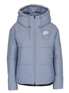 Svetlomodrá dámska prešívaná bunda s kapucňou Nike Sportswear Fill