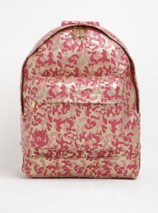 Zlato-ružový dámsky vzorovaný batoh Mi-Pac Metallic Camo