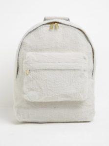 Krémový dámsky batoh s nízkym vlasom Mi-Pac Fur 17 l