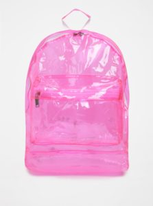 Ružový dámsky transparentný batoh Mi-Pac Transparent 17 l