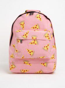 Ružový batoh s potlačou pizze Mi-Pac Pizza 17 l