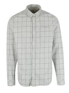 Svetlosivá pánska kockovaná košeľa Garcia Jeans