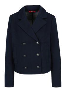 Tmavomodré dámske sako s gombíkmi a vreckami s.Oliver