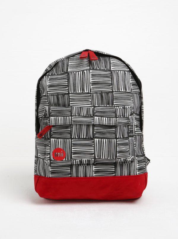 Čierno-krémový detský vzorovaný batoh Mi-Pac Mini Scribble Check
