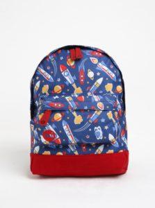 Modrý detský batoh s motívom vesmíru Mi-Pac mini Space