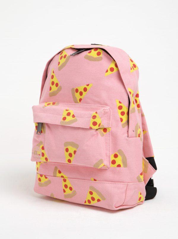 Ružový detský batoh s potlačou pizze Mi-Pac Mini Pizza 10,5 l