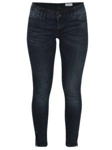 Čierne dámske skrátené super skinny rifle Cross Jeans