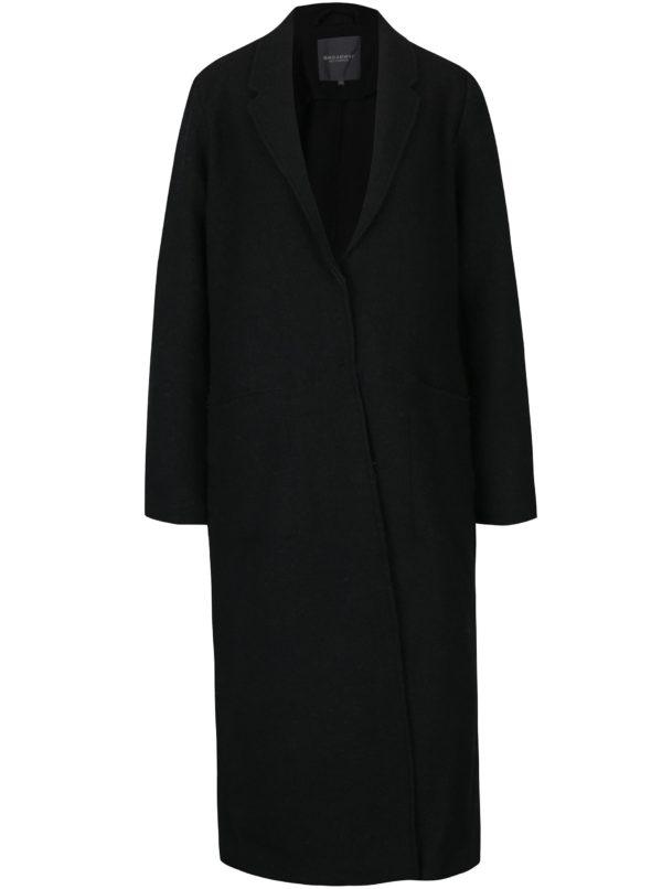 Čierny dámsky dlhý vlnený kabát Broadway Malea