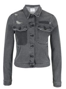 Tmavosivá dámska rifľová bunda Cross Jeans