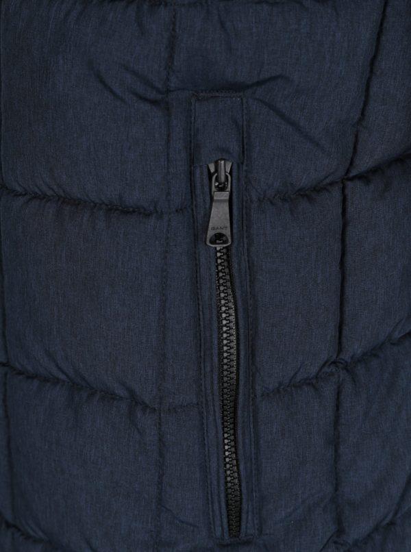Tmavomodrá pánska prešívaná bunda GANT