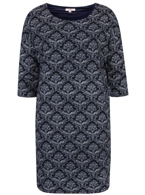 Tmavomodré vzorované šaty LA Lemon