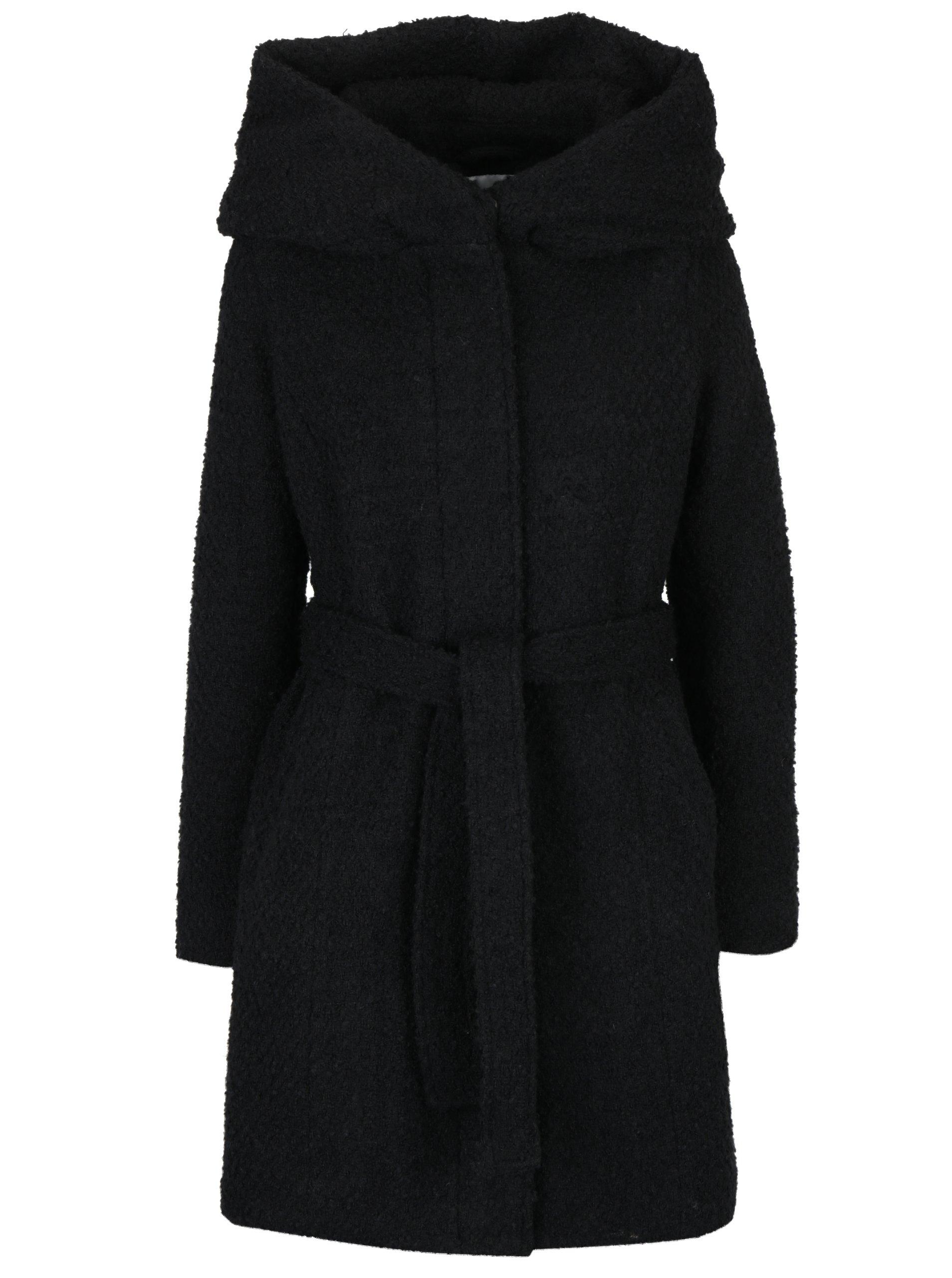 205a74bce Čierny zimný kabát s prímesou vlny a kapucňou VILA Cama | Moda.sk