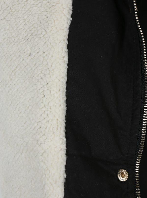 Čierna parka s umelým kožúškom Haily´s Penelope