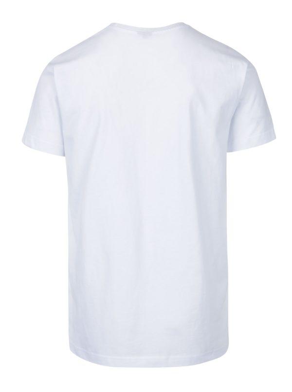 Biele pánske tričko s krátkym rukávom a potlačou Horsefeathers Montana