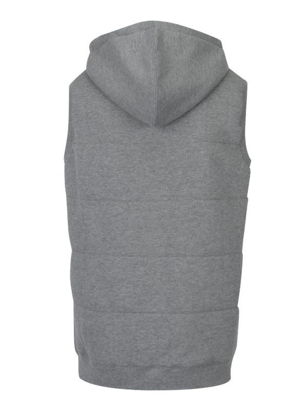 Sivá melírovaná pánska vesta s kapucňou Horsefeathers Forest