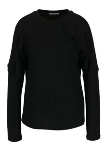 Čierny sveter s volánmi Haily´s Vera