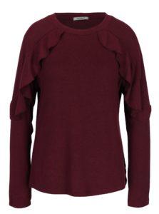Vínový sveter s volánmi Haily´s Vera