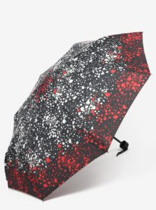 Čierny dámsky vzorovaný dáždnik Derby