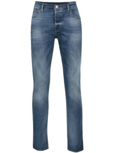 Modré pánske straight tapered rifle Cross Jeans