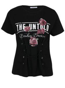 Čierne tričko so šnurovaním Haily´s Broken