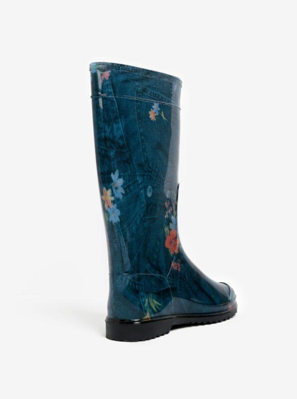 Modré dámske gumáky Oldcom Rain