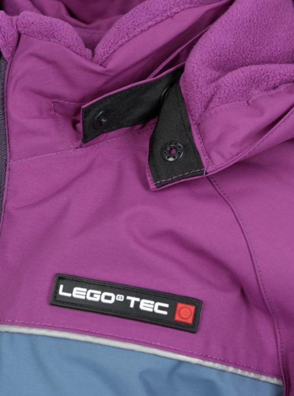 Fialovo-ružová dievčenská funkčná bunda so snímateľnou kapucňou Lego Wear Jenny