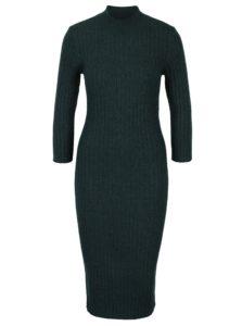 Tmavozelené puzdrové svetrové šaty VERO MODA Ava