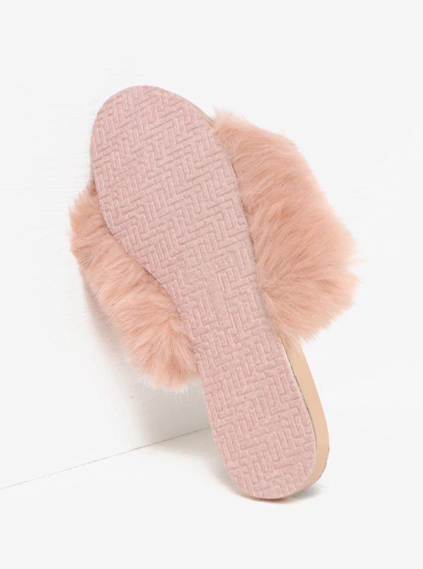 Ružové papuče s vysokým vlasomTed Baker Pancey
