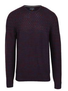 Modro-vínový melírovaný slim fit sveter Blend