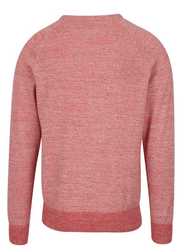 Červený melírovaný slim fit sveter Blend