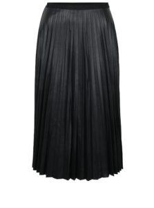 Čierna koženková plisovaná sukňa VERO MODA Jo