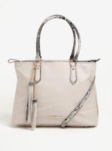 Béžová kabelka s detailmi hadieho vzoru LYDC
