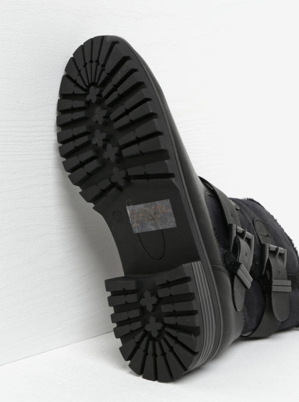 Čierne členkové topánky s prackami Miss KG Snug