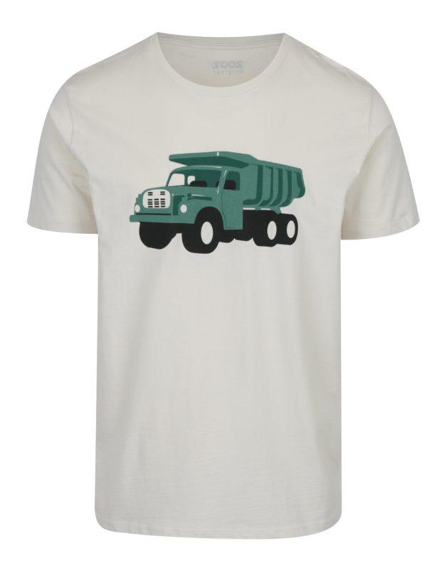 Krémové pánske tričko s potlačou ZOOT Original Tatra