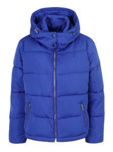 Modrá prešívaná bunda s kapucňou Miss Selfridge