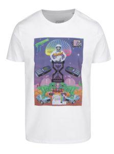 Biele pánske tričko s potlačou ZOOT Original Koláž