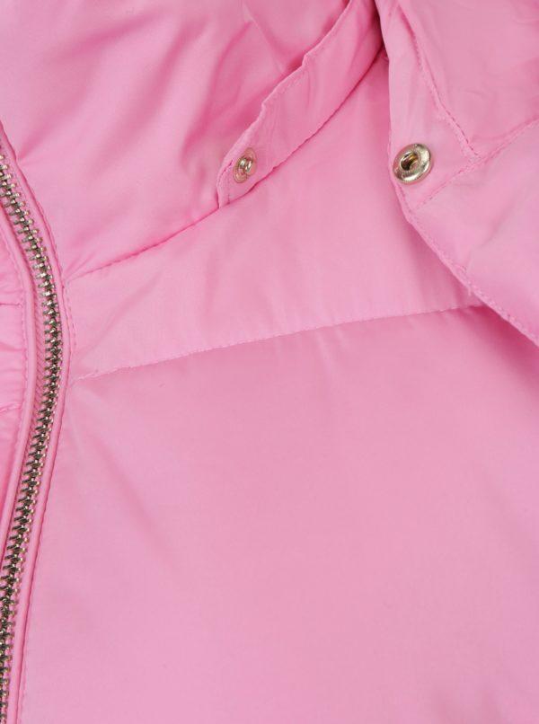 Ružová prešívaná bunda s kapucňou Miss Selfridge
